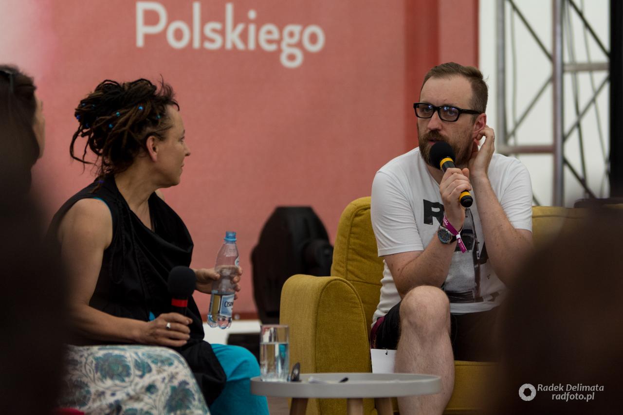 Olga Tokarczuk oraz Michał Nogaś